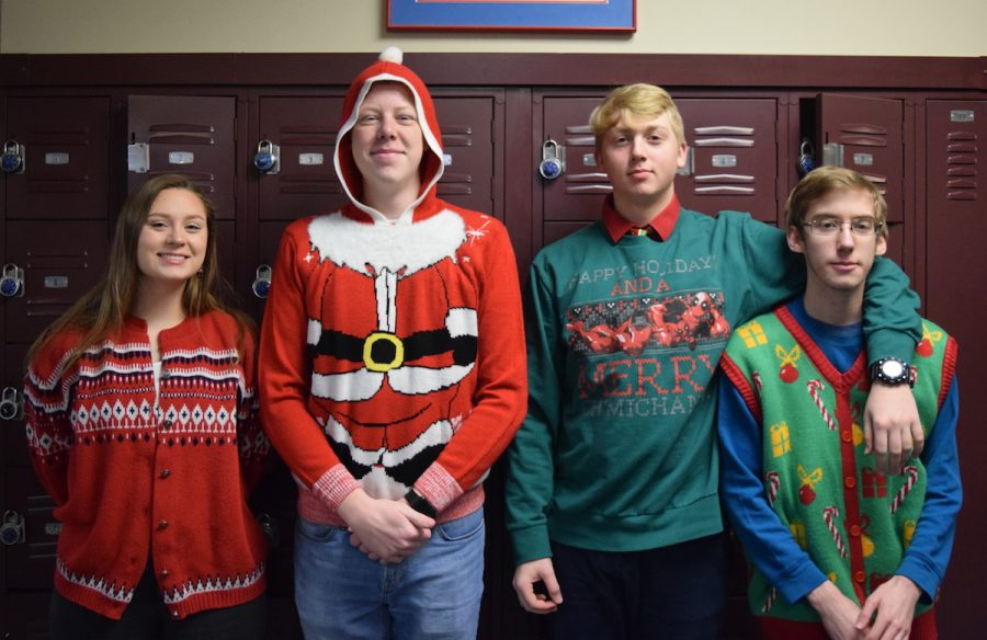 Ugly sweaters fill the halls!