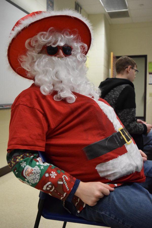 Santa in his cool shades