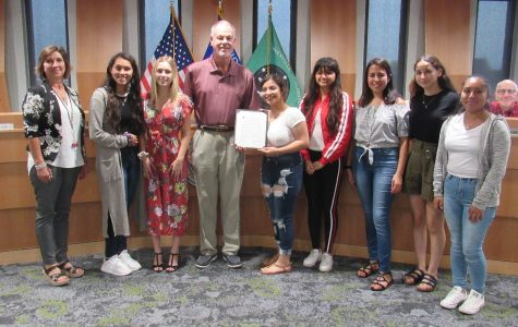 Students Accept Hispanic Heritage Month Resolution from Janesville City Council