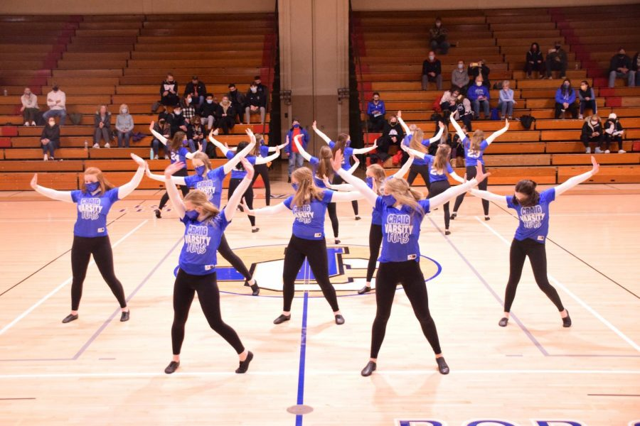 Girls+Basketball+Poms+Halftime+Performance+2-6-21